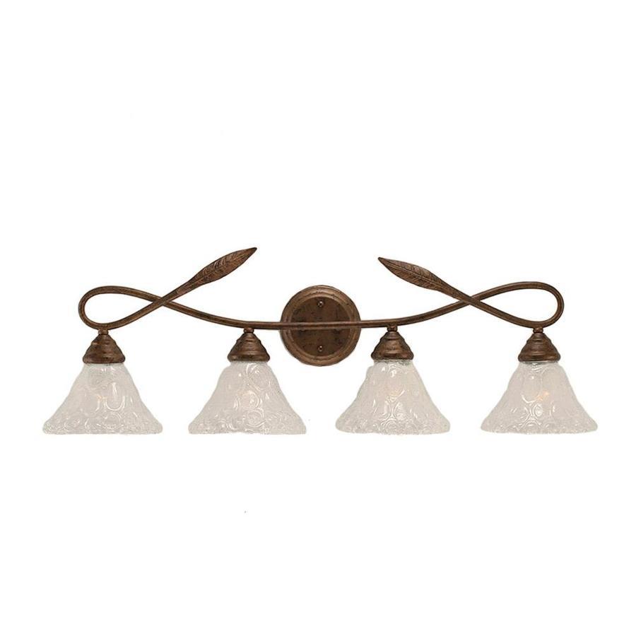 Divina 4-Light 11-in Bronze Vanity Light