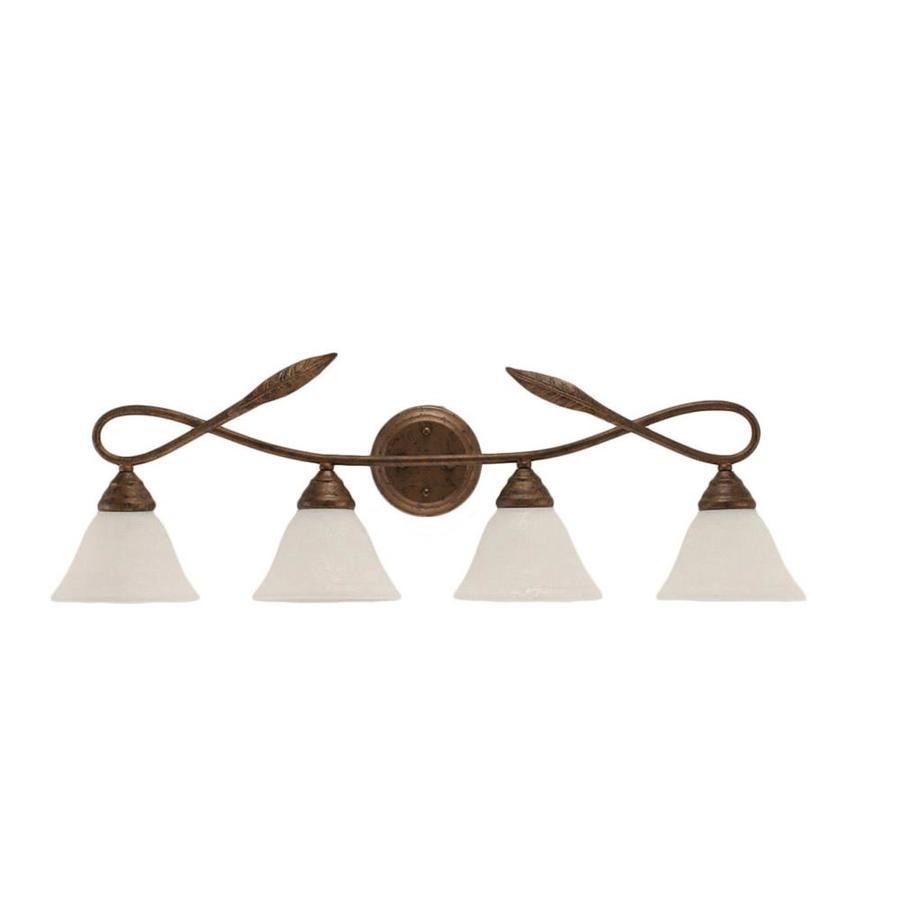 Divina 4-Light 10-in Bronze Vanity Light