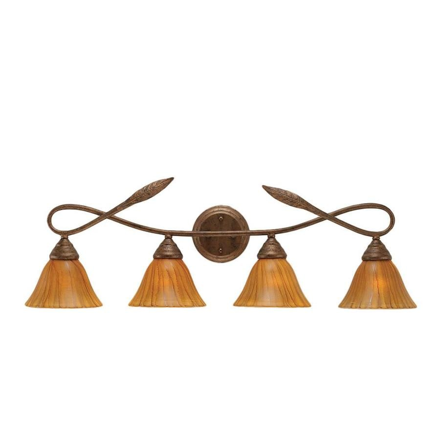 Divina 4-Light 10-in Bronze Vanity Light