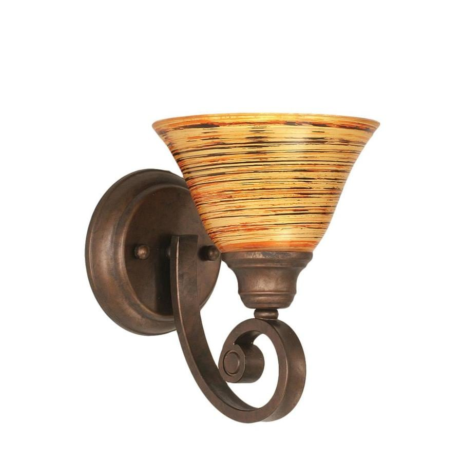 Lowes Tiffany Wall Sconces : Shop Divina 8.75-in W 1-Light Bronze Candle Wall Sconce at Lowes.com