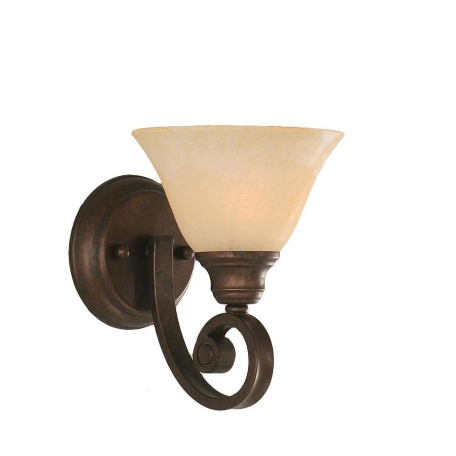 Shop Divina 8.75-in W 1-Light Bronze Candle Wall Sconce at Lowes.com