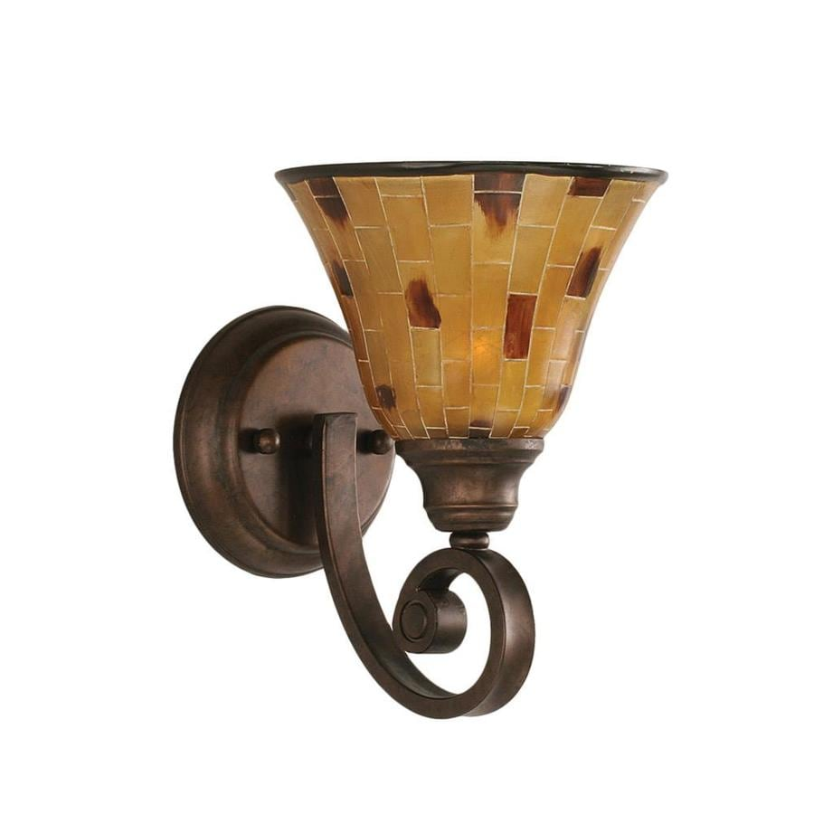 Divina 8.5-in W 1-Light Bronze Candle Hardwired Wall Sconce