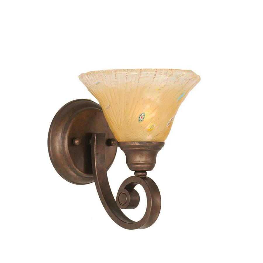 Wall Sconces Location : Shop Divina 7-in W 1-Light Bronze Candle Wall Sconce at Lowes.com
