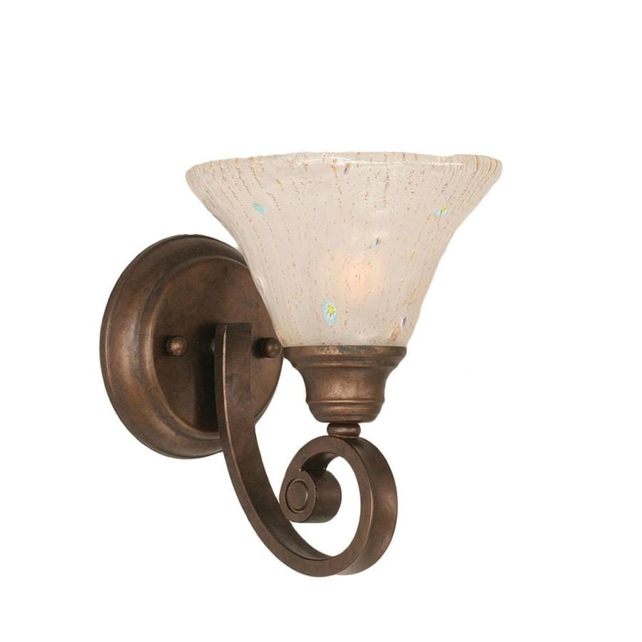 shop divina 875 in w 1 light bronze candle wall sconce at With kitchen cabinets lowes with crystal wall sconce candle holder