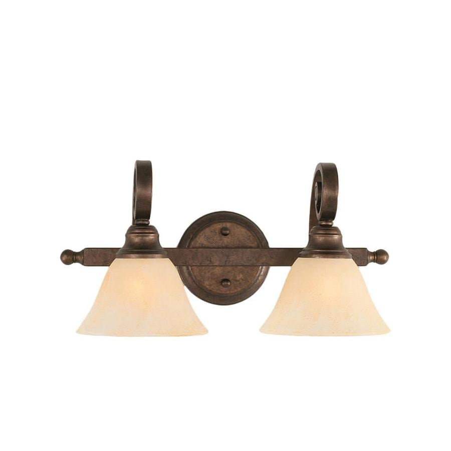 Divina 2-Light 8.75-in Bronze Vanity Light