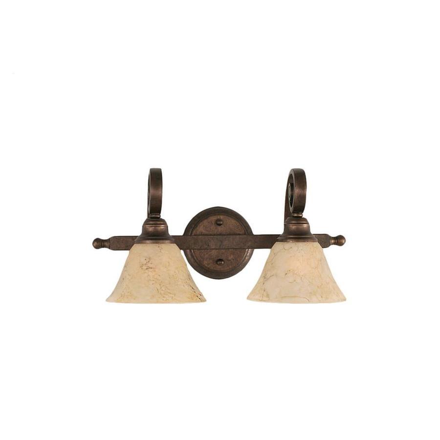 Divina 2-Light 8.5-in Bronze Vanity Light