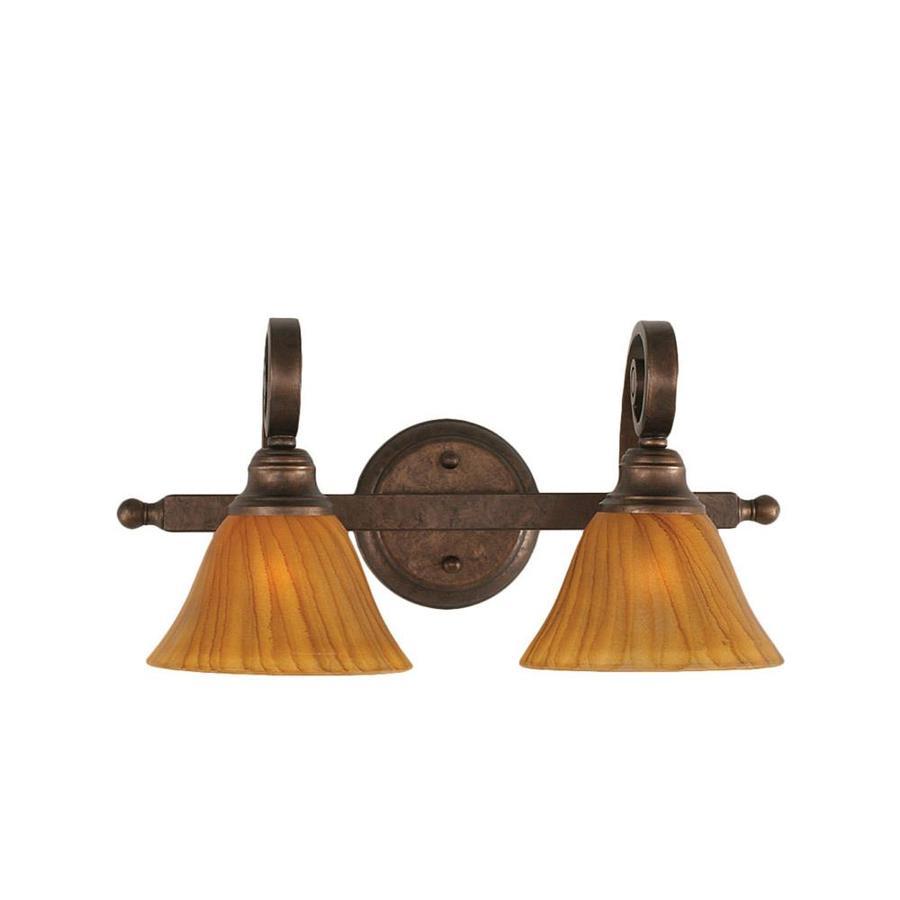 Divina 2-Light 8.75-in Bronze Vanity Light