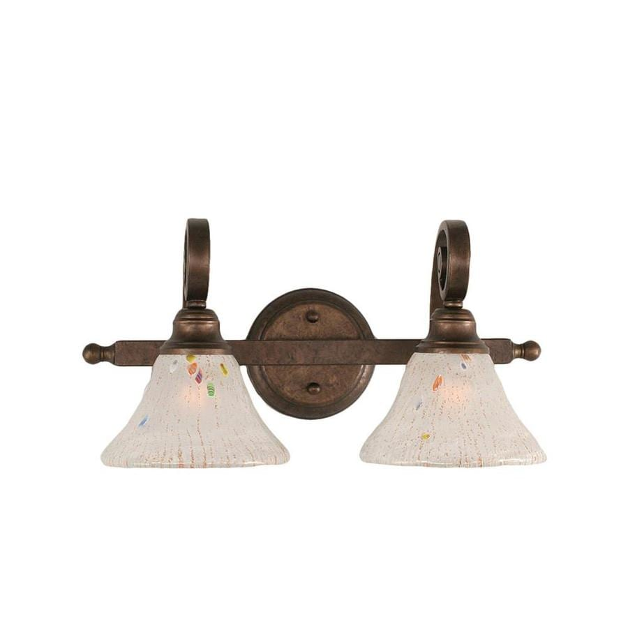 Install Vanity Light Without Electrical Box : Shop Divina 2-Light 8.5-in Bronze Vanity Light at Lowes.com