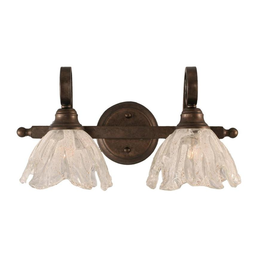 Divina 2-Light 9-in Bronze Vanity Light