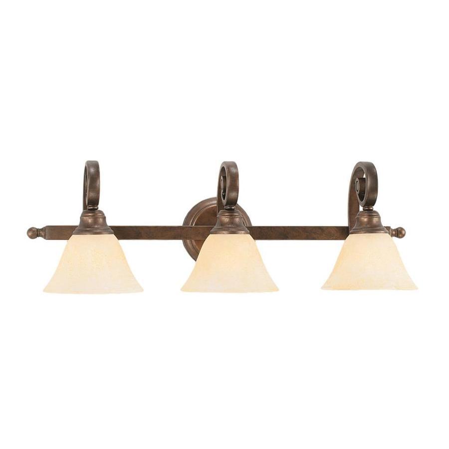 Divina 3-Light 8.75-in Bronze Vanity Light