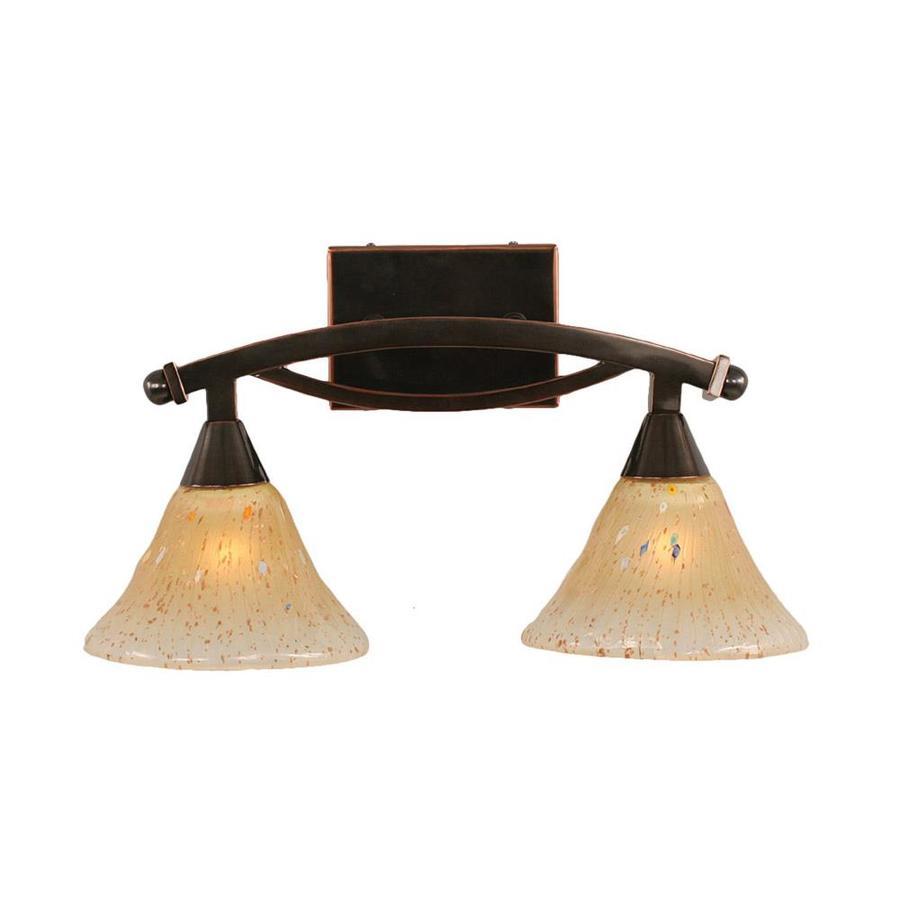 Lowes Black Vanity Lights : Shop Divina 2-Light 10-in Black Copper Vanity Light at Lowes.com