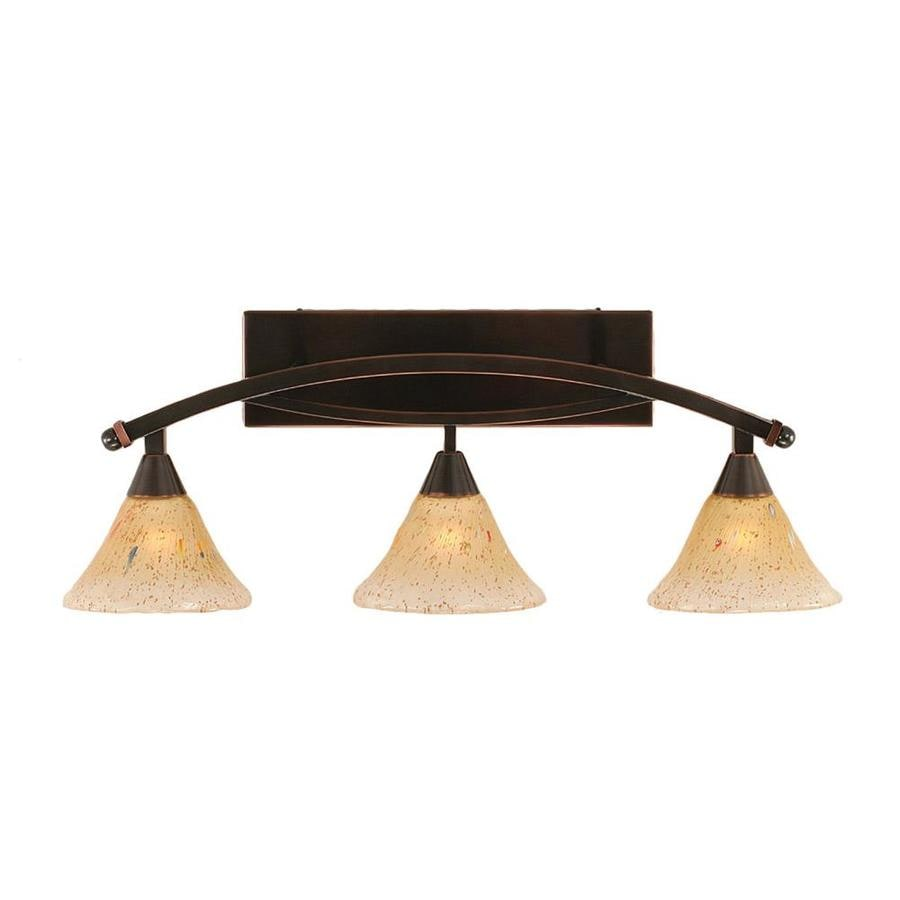 Divina 3-Light 11-in Black Copper Vanity Light