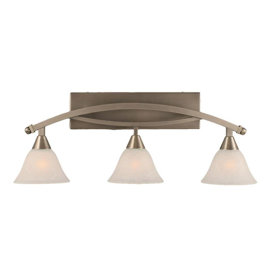Shop Divina 3-Light 11-in Brushed Nickel Vanity Light at Lowes.com