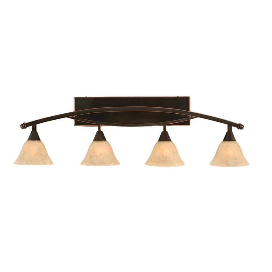 Divina 4-Light 12.5-in Black Copper Vanity Light