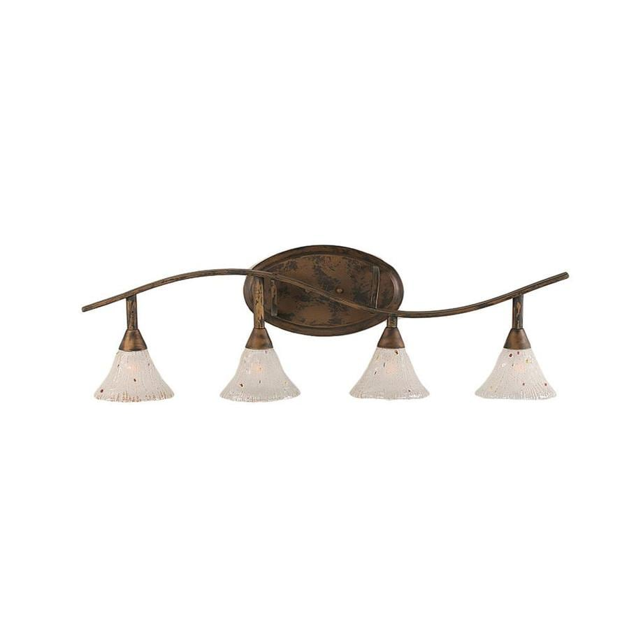 Divina 4-Light 11-in Bronze Vanity Light