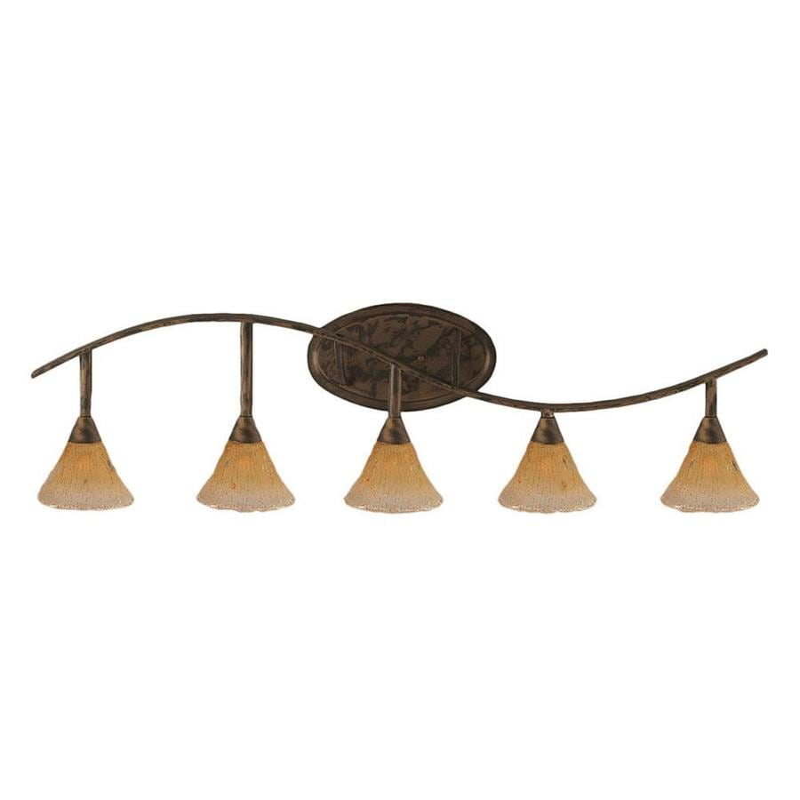 5-Light Brooster Bronze Bathroom Vanity Light