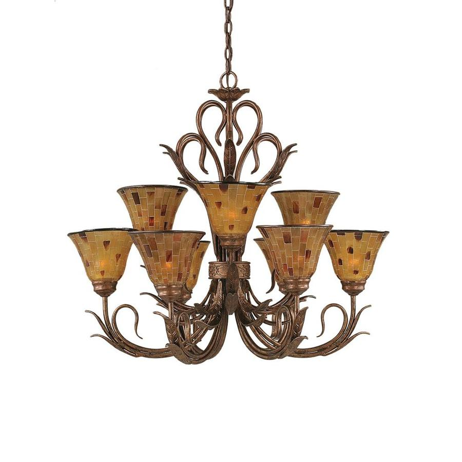 Divina 31-in 9-Light Bronze Tiered Chandelier