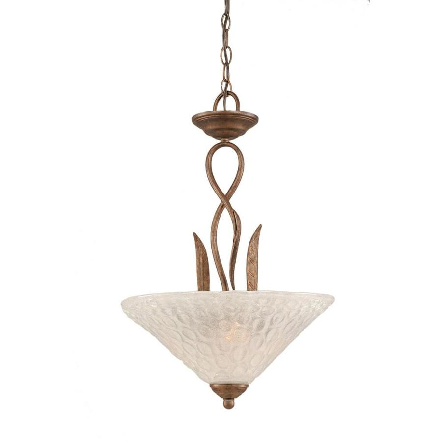 Divina 16-in Bronze Single Ribbed Glass Pendant