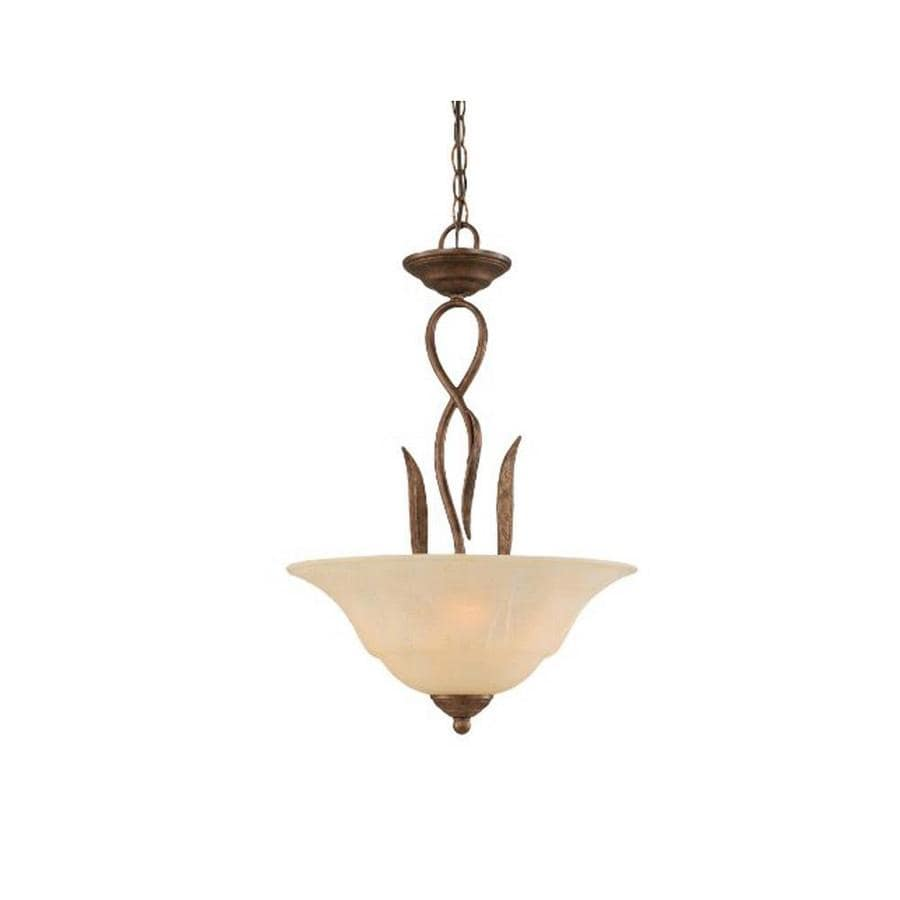 Divina 16-in Bronze Single Tinted Glass Pendant