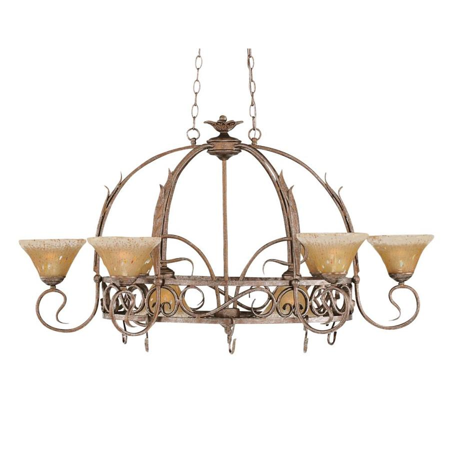 Brooster 32 In X 44 In Bronze Lighted Pot Rack At Lowes Com