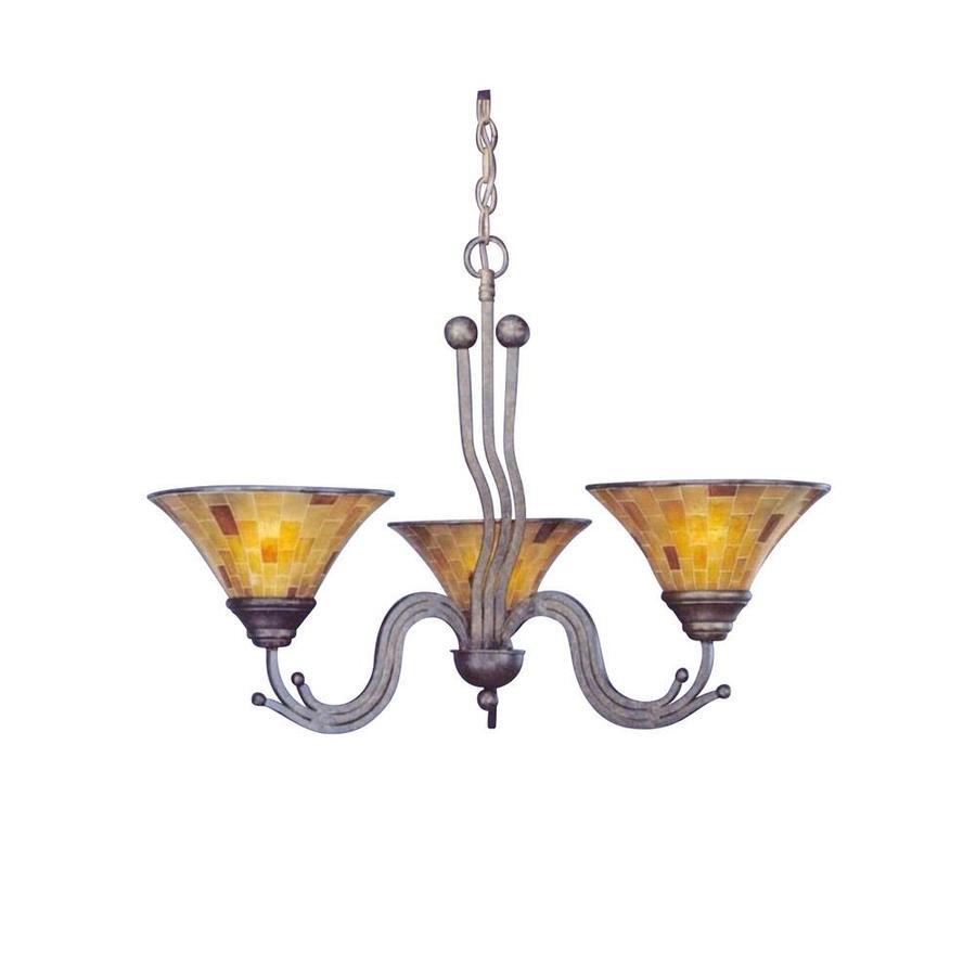 Divina 28-in 3-Light Bronze Candle Chandelier