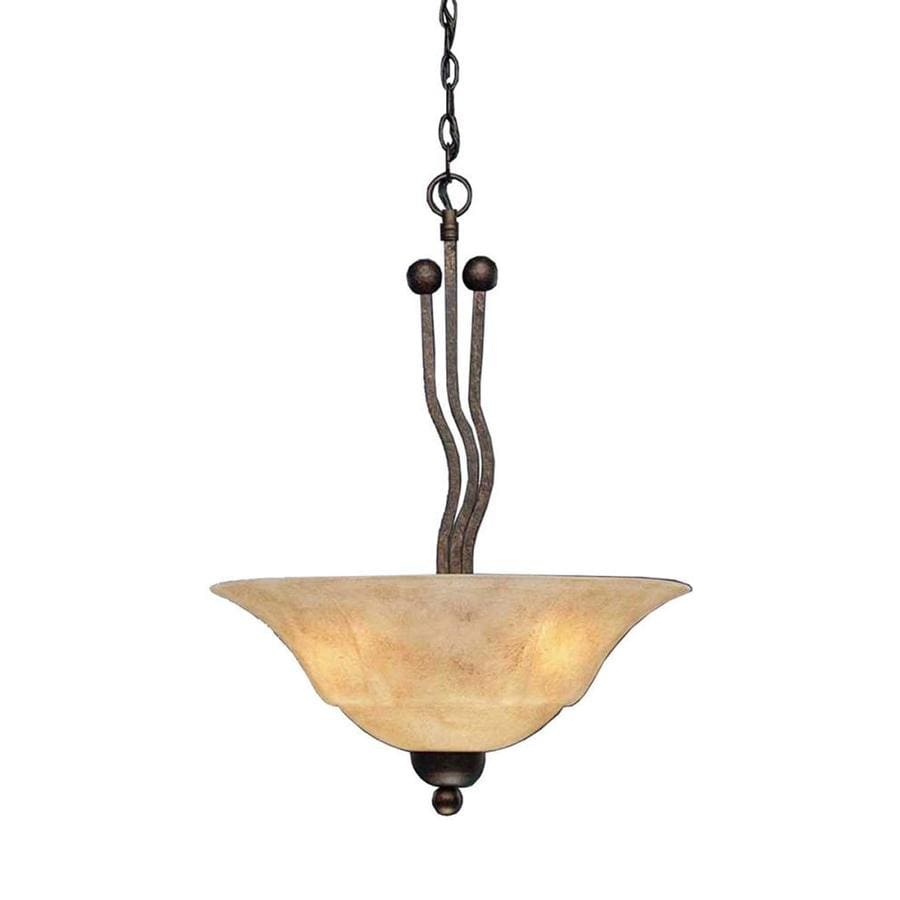 Divina 20-in Bronze Single Tinted Glass Pendant