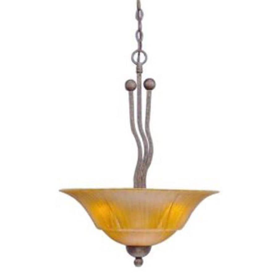 Divina 20-in Bronze Single Marbleized Glass Pendant