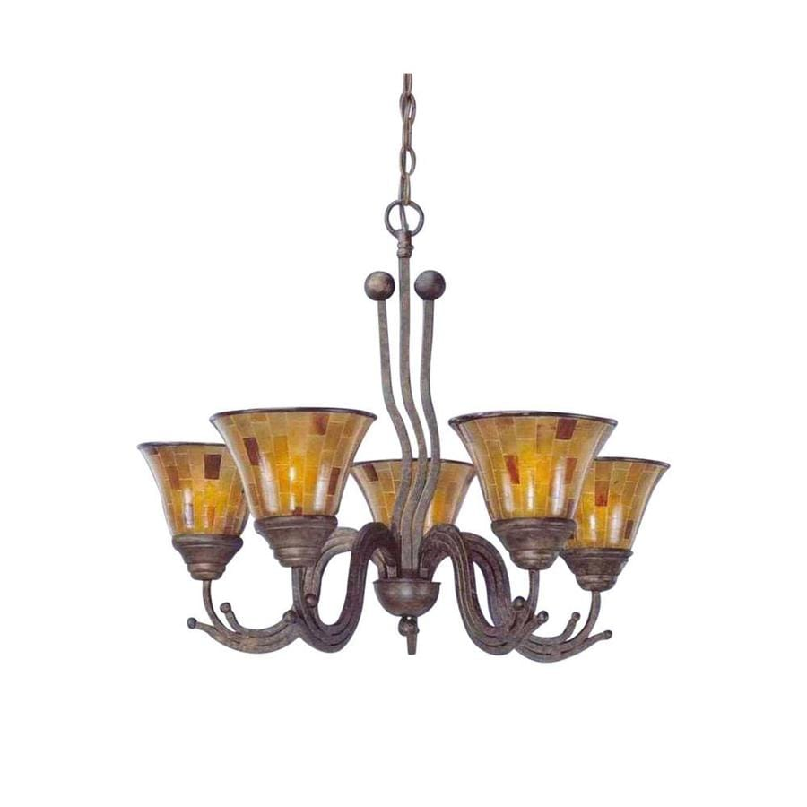 Divina 27-in 5-Light Bronze Candle Chandelier