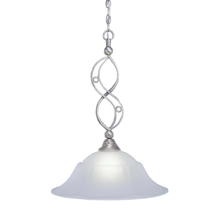 Divina 20-in Brushed Nickel Single N/A Pendant