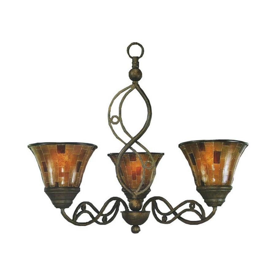 Divina 26.5-in 3-Light Bronze Candle Chandelier