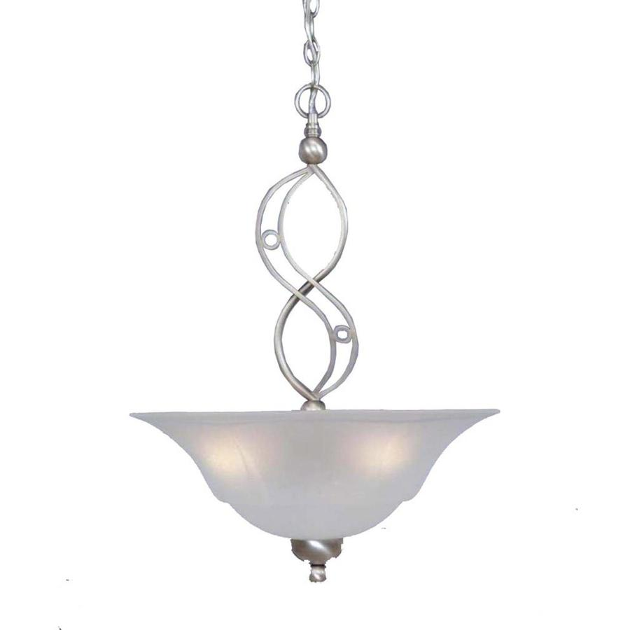 Divina 20-in Brushed Nickel Single Bell Pendant