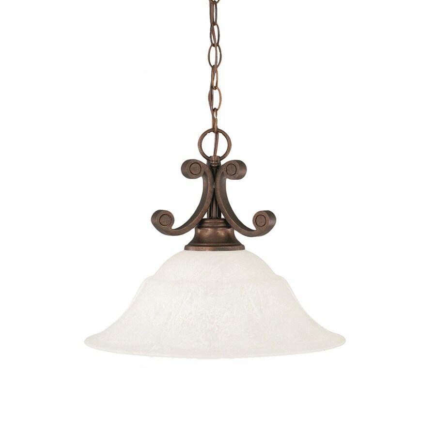 Divina 16-in Bronze Single Bell Pendant