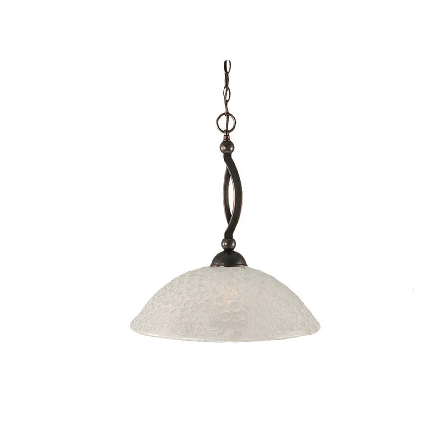 Divina 16-in Black Copper Single Bell Pendant