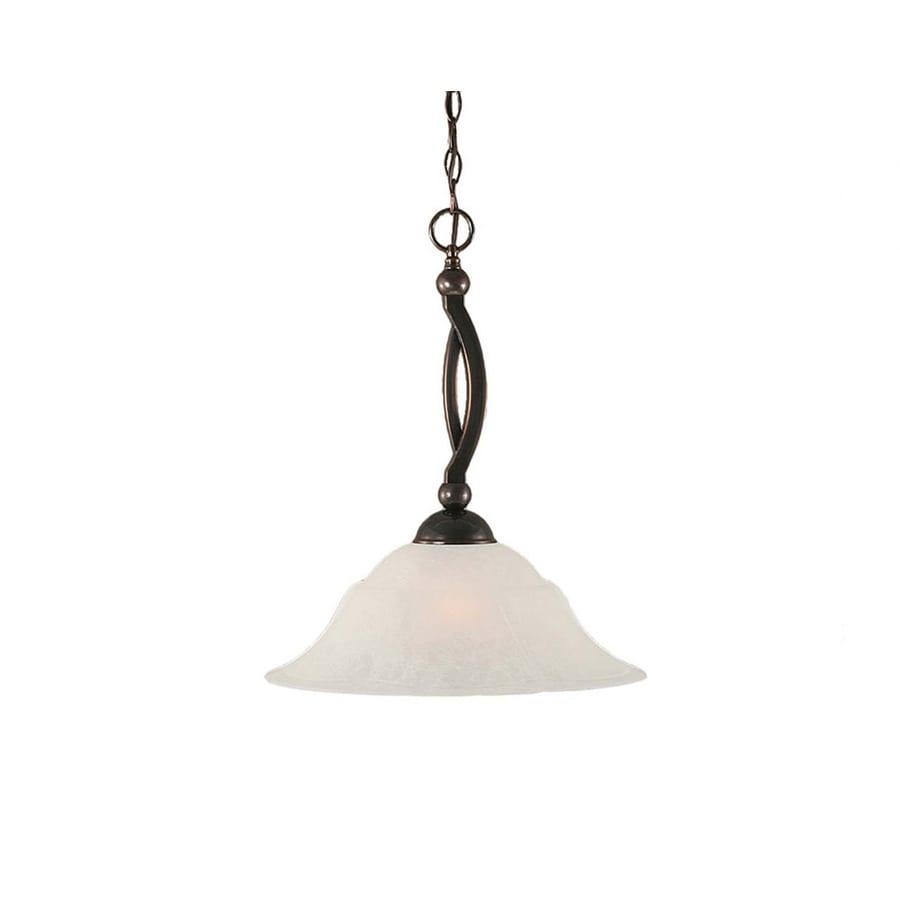 Divina 16-in Black Copper Single Bell Pendant