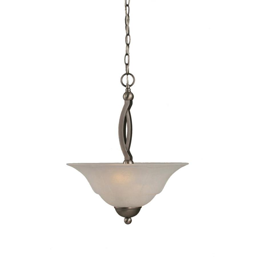 Divina 16-in Brushed Nickel Single Bell Pendant
