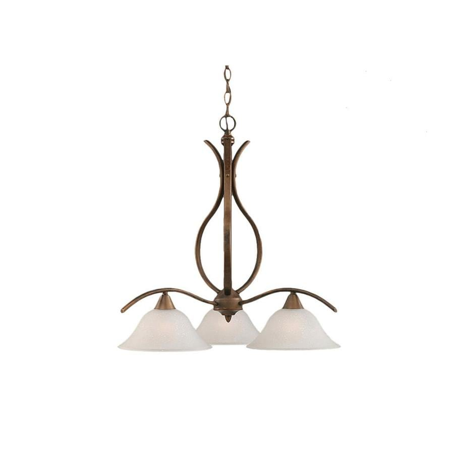 Divina 22.5-in 3-Light Bronze Tinted Glass Candle Chandelier