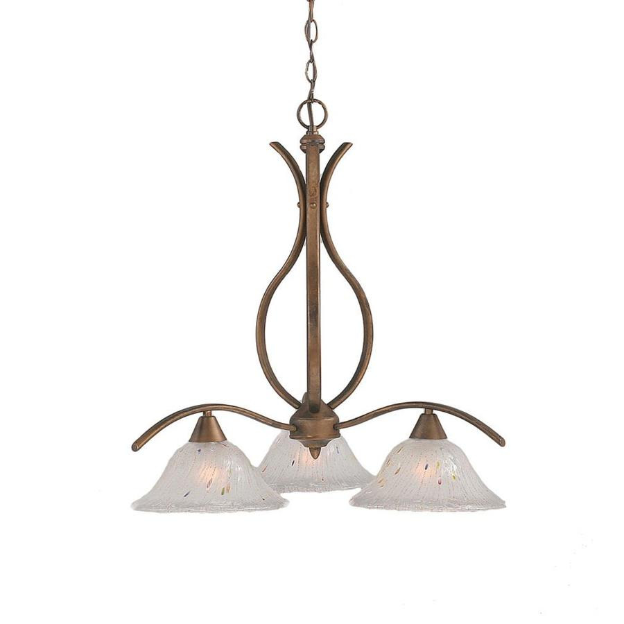 Divina 28.5-in 3-Light Bronze Tinted Glass Candle Chandelier