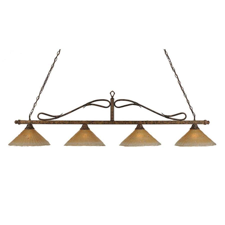 Shop divina 16 in w 4 light bronze kitchen island light with tiffany divina 16 in w 4 light bronze kitchen island light with tiffany style workwithnaturefo