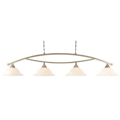 Divina Brushed Nickel Kitchen Island Light Contemporary