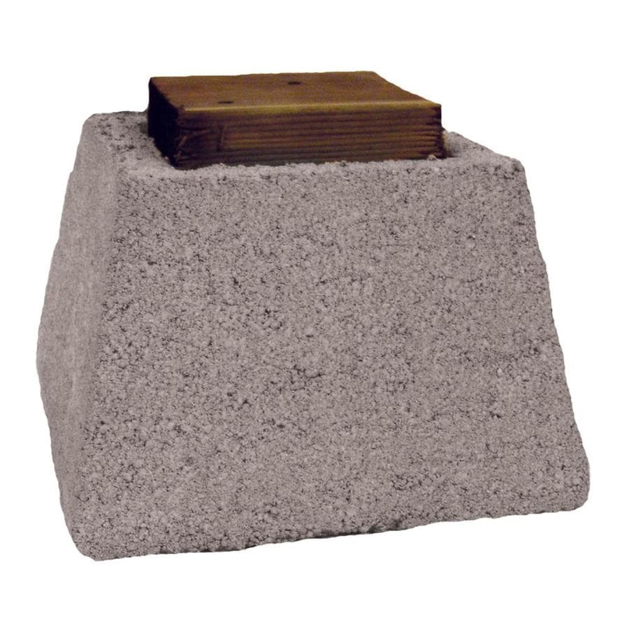 Basalite Pier Block with Wood Cap Concrete Block (Common: 11-in x 8-in x 11-in; Actual: 10.5-in x 8-in x 10.5-in)