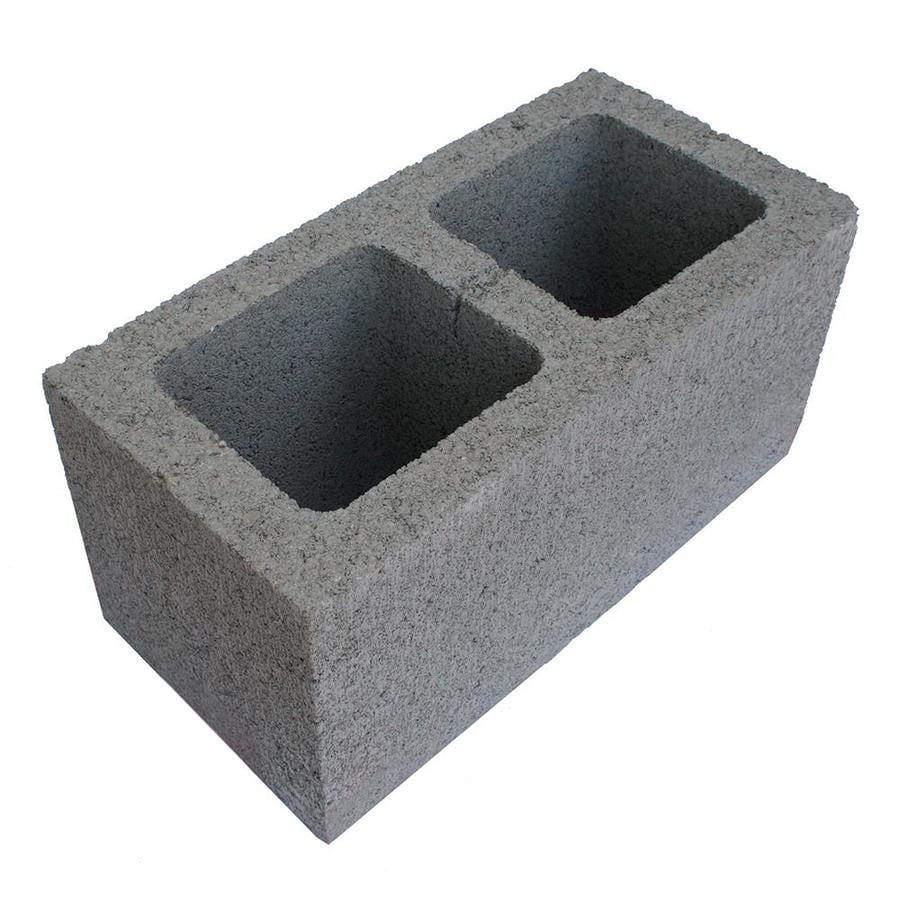 Basalite 8-in x 8-in x 16-in Standard Gray Block