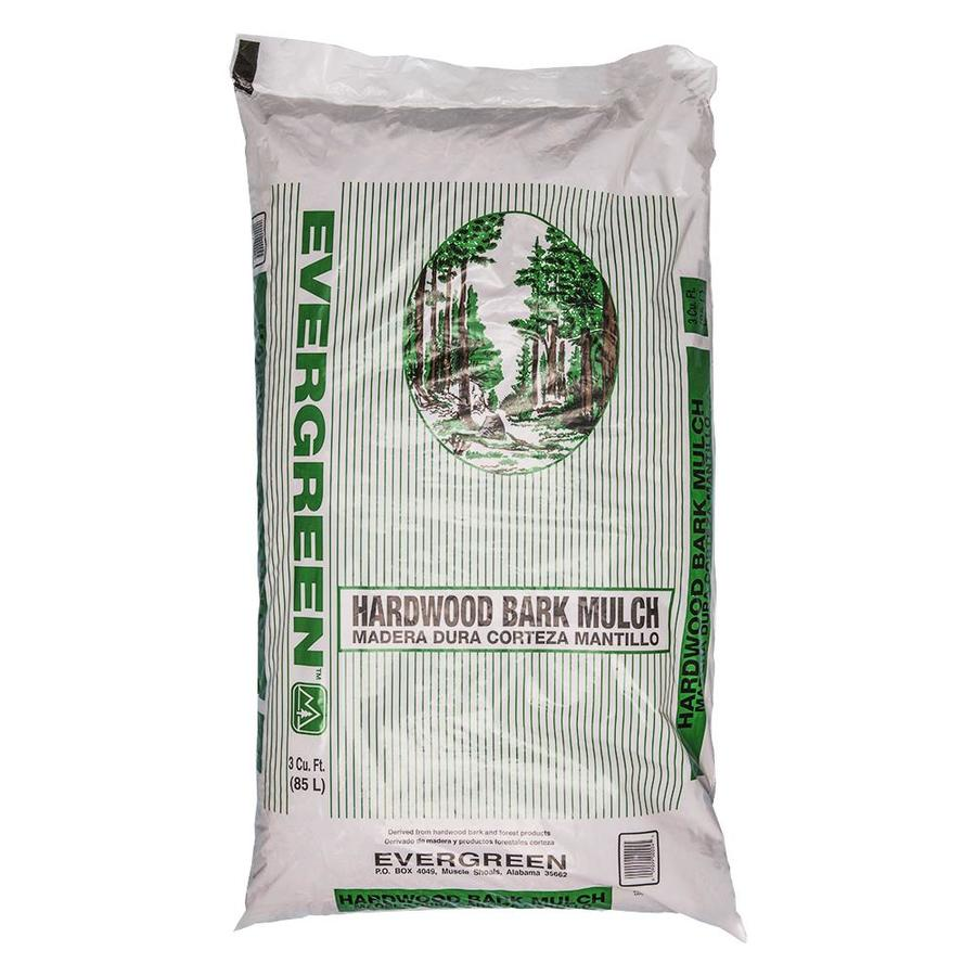 Evergreen 3-cu ft Brown Hardwood Bark Mulch