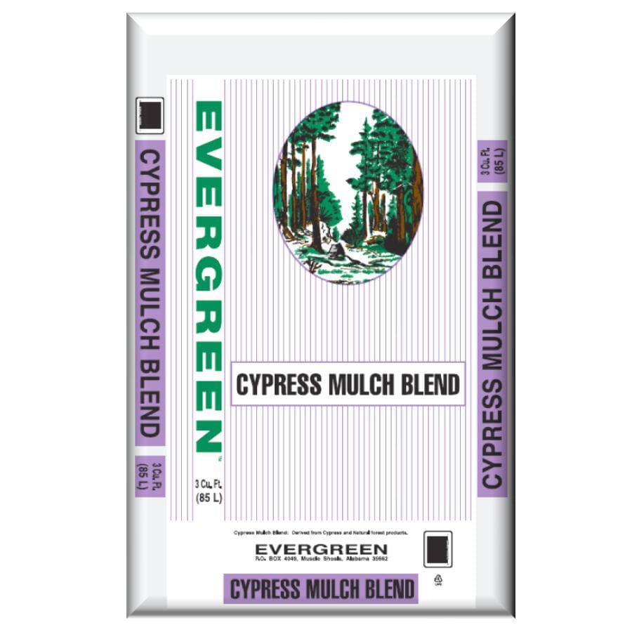 Evergreen 3-cu ft Light Brown/Gold Cypress Blend Mulch