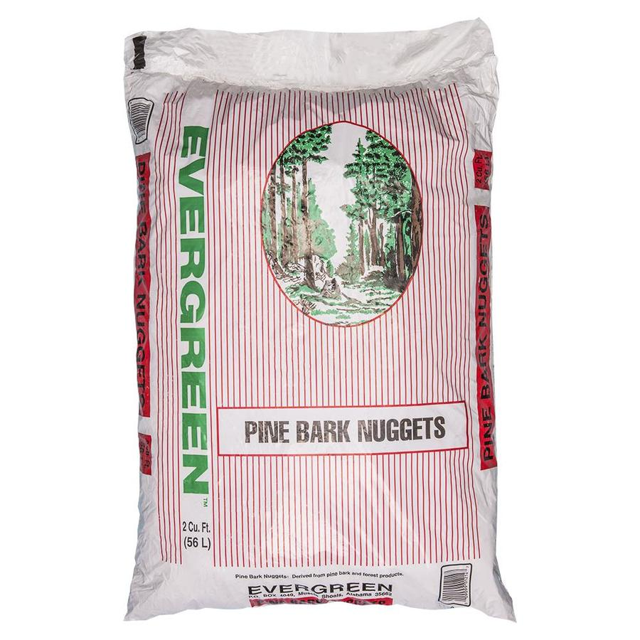 Evergreen 2-cu ft Brown Pine Bark Nuggets
