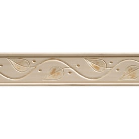 Gentil 1.75 In X 8 Ft White Hardwood Chair Rail Moulding