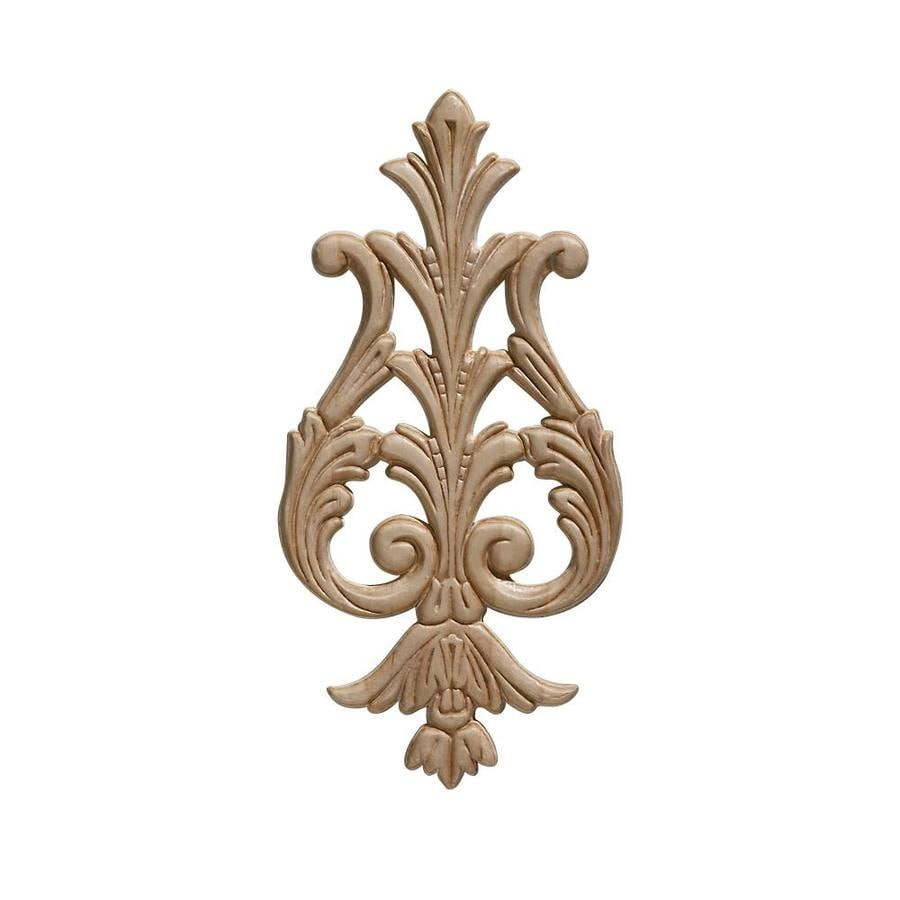 EverTrue 4.625-in x 9.375-in Acanthus Wood Applique