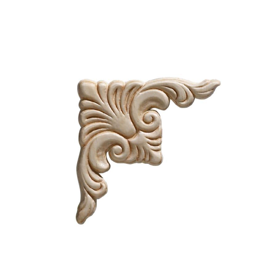 EverTrue 3.75-in x 3.75-in Acanthus Wood Applique
