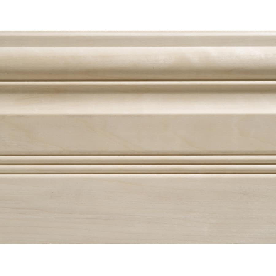 5.5-in x 8-ft Interior White Hardwood Baseboard Moulding