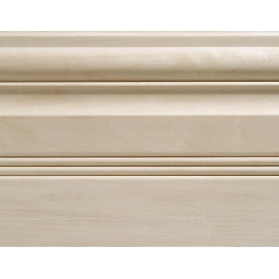 5.5-in x 8-ft Interior White Hardwood Baseboard