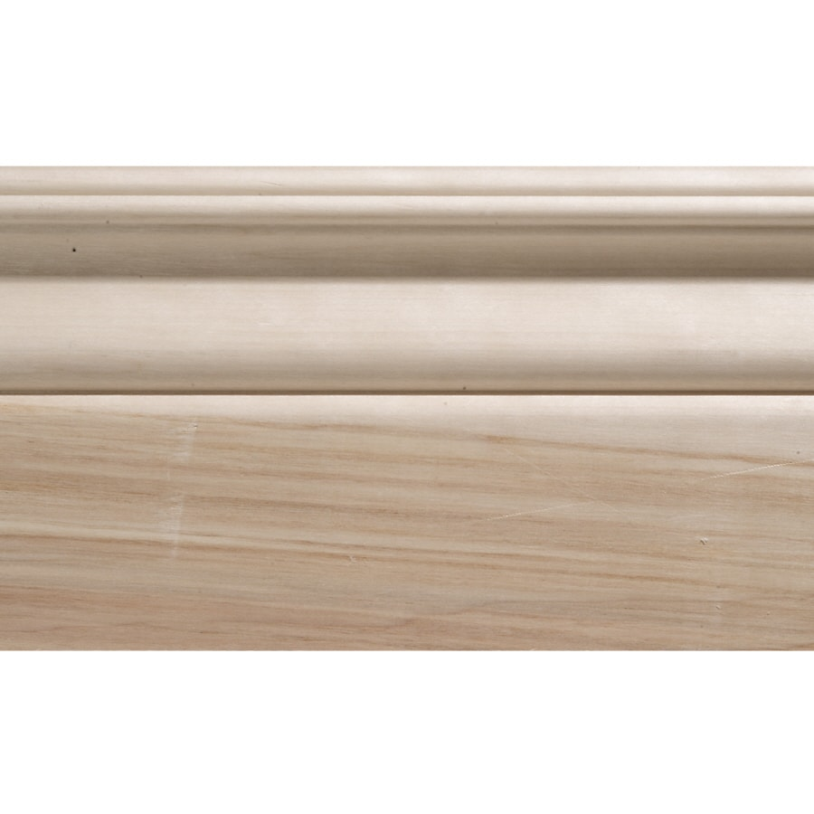 4.25-in x 8-ft Interior White Hardwood Baseboard